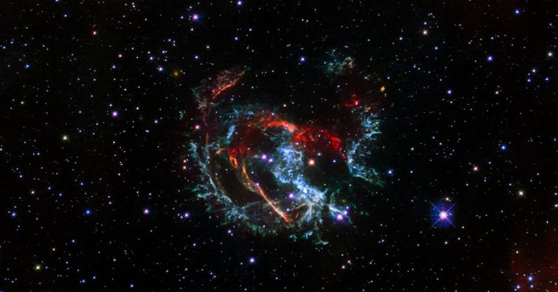 Hubble spots remains of a supernova humans saw explode 1700 years ago