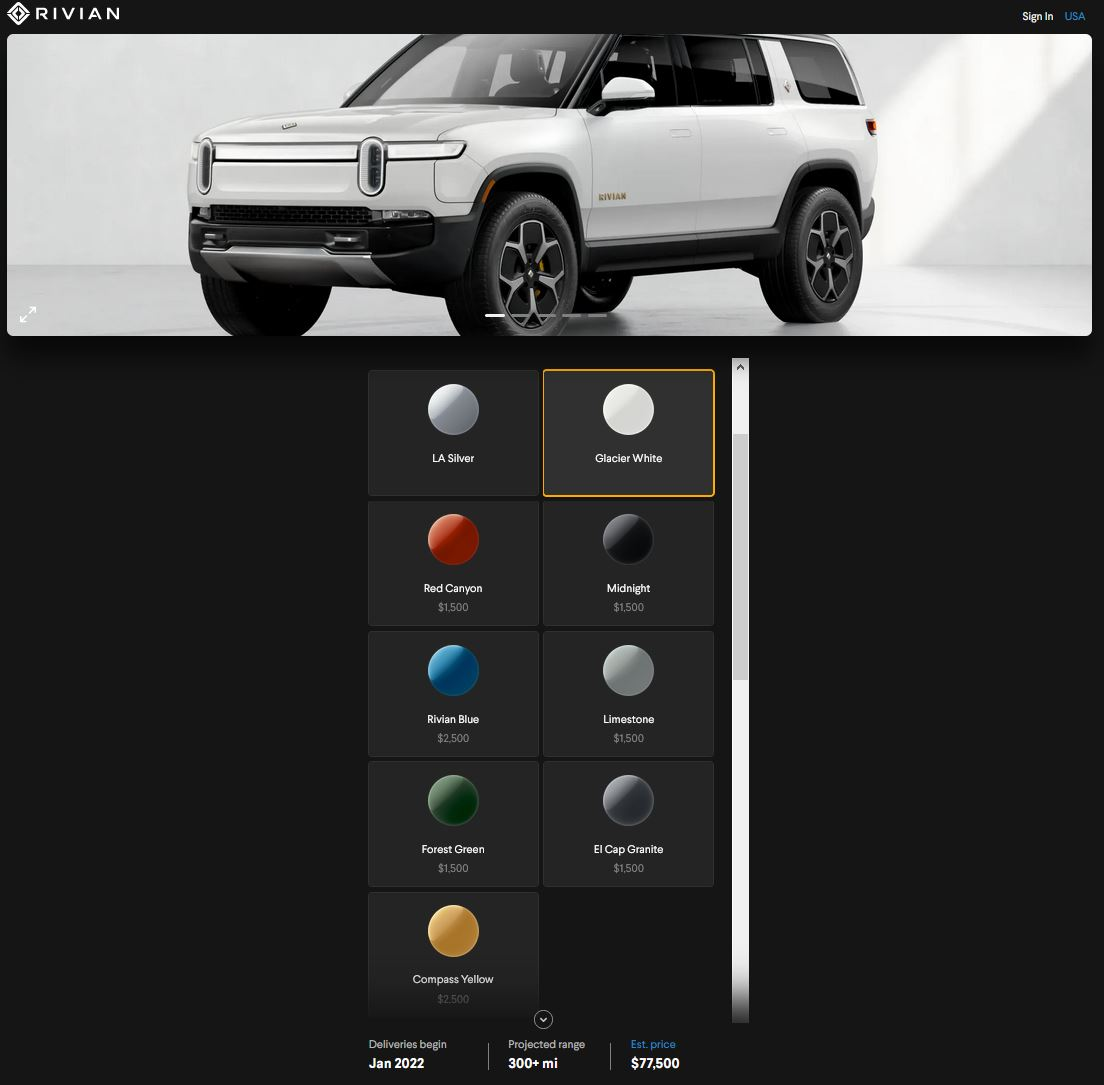 rivian, car, ev, color, future