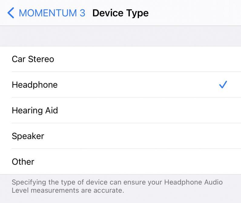 iOS 14.4 headphone type bluetooth