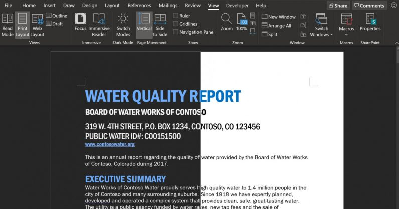 Microsoft Word is testing an even darker dark mode