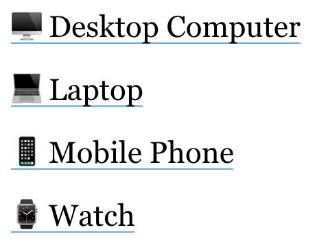 emoji apple laptop mobile phone watch