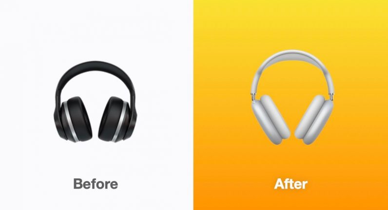 ios 14.5 new headphone emoji airpods max apple