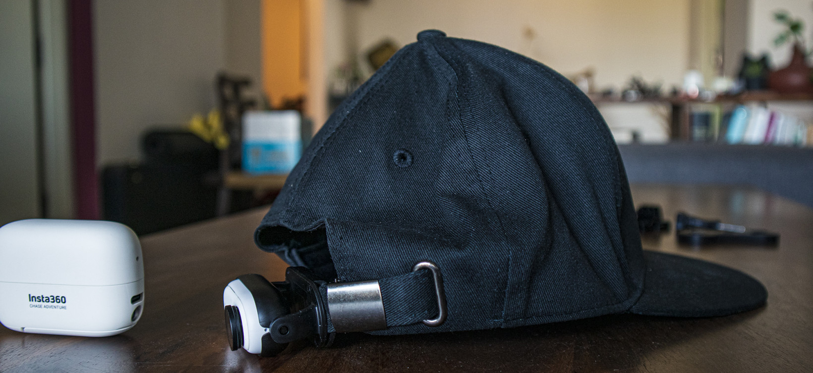 The Go 2 can even fit on a baseball cap with a ratcheted mount