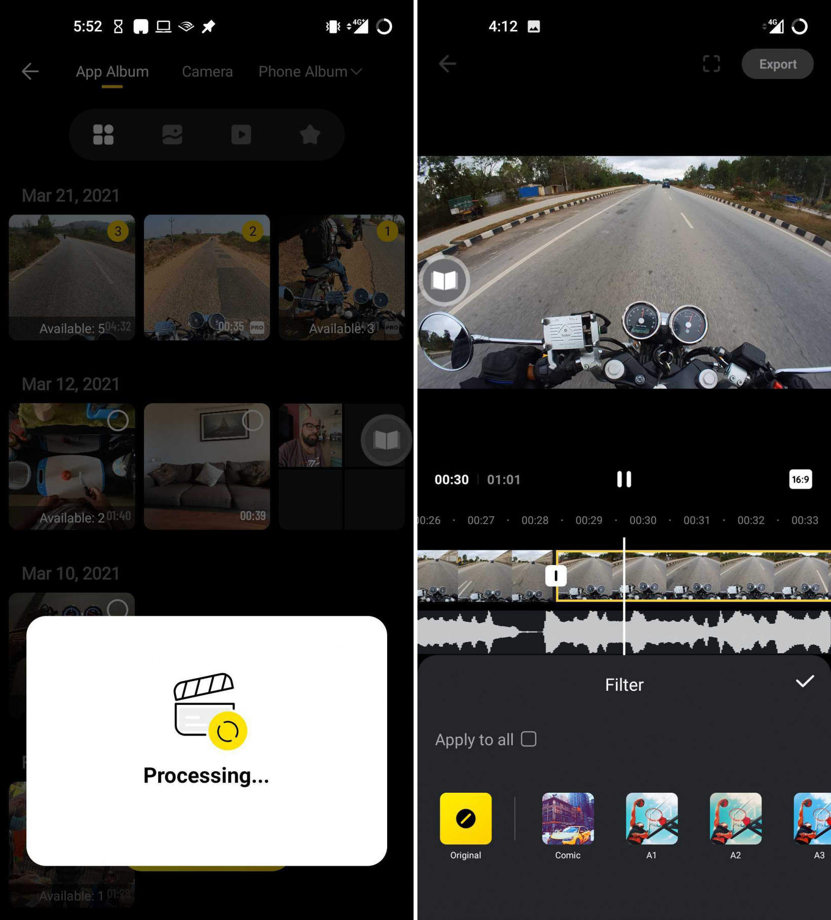 Insta360's mobile app makes it easy to import footage and automatically create highlight reels of your adventures