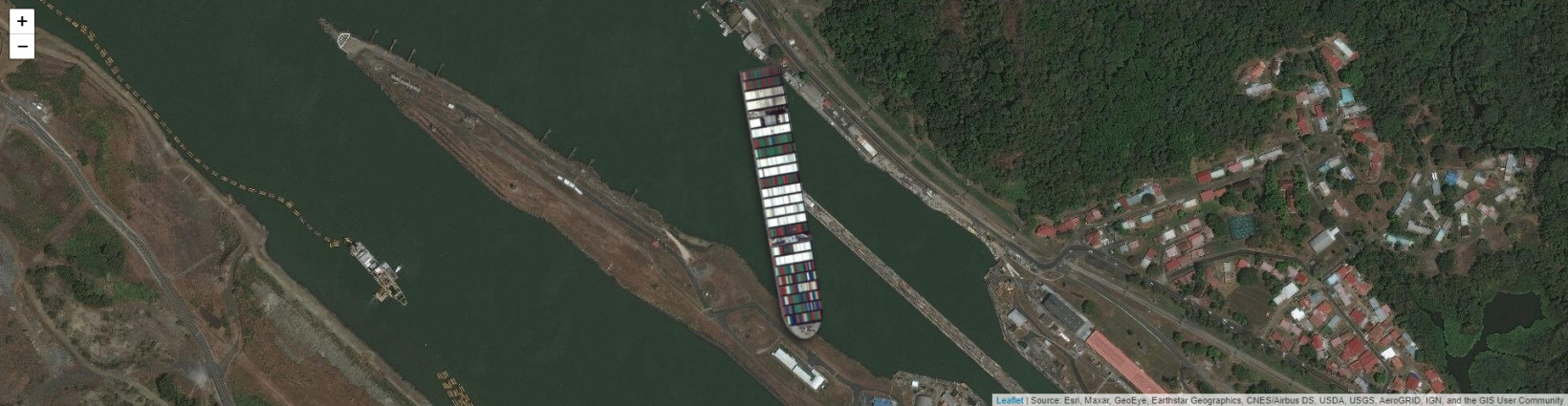 The Ever Given causing a damn kerfuffle on the Panama Canal