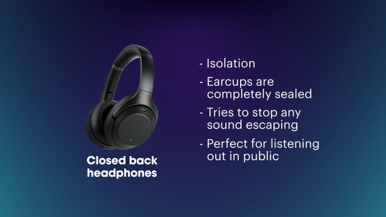 closed-back headphones information guide