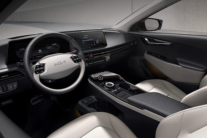 interior, car, ev, ev6