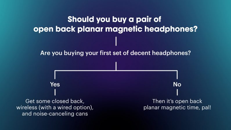 should i buy a pair of open-back planar magnetic headphones