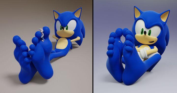 sonic feet 1