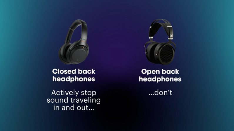 what's the difference between closed-back and open-back headphones