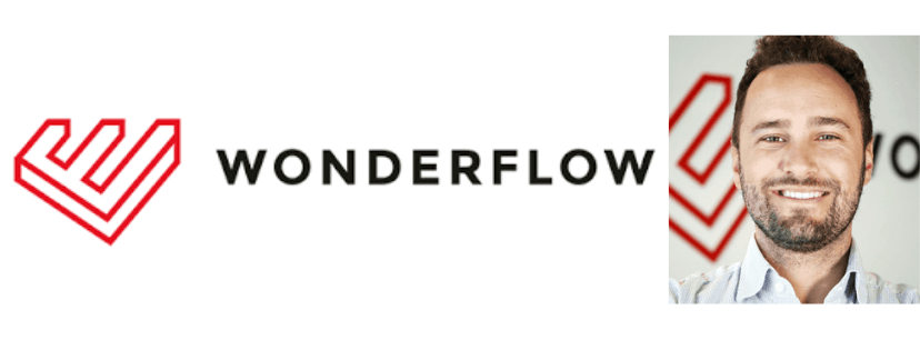 Wonderflow logo and CEO Riccardo Osti