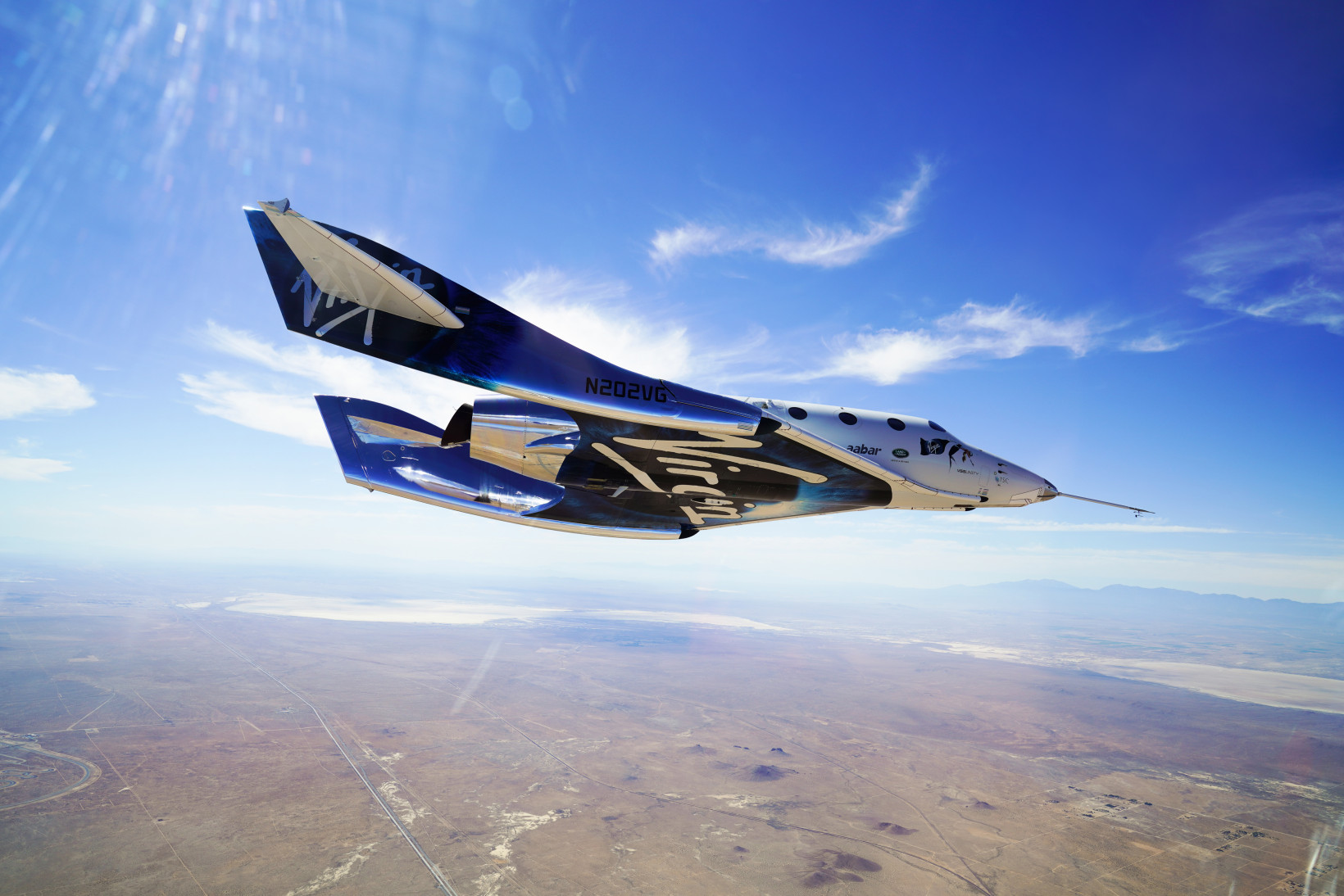 The VSS Unity spacecraft is one of the ships that Virgin Galactic plans to use for space tours.