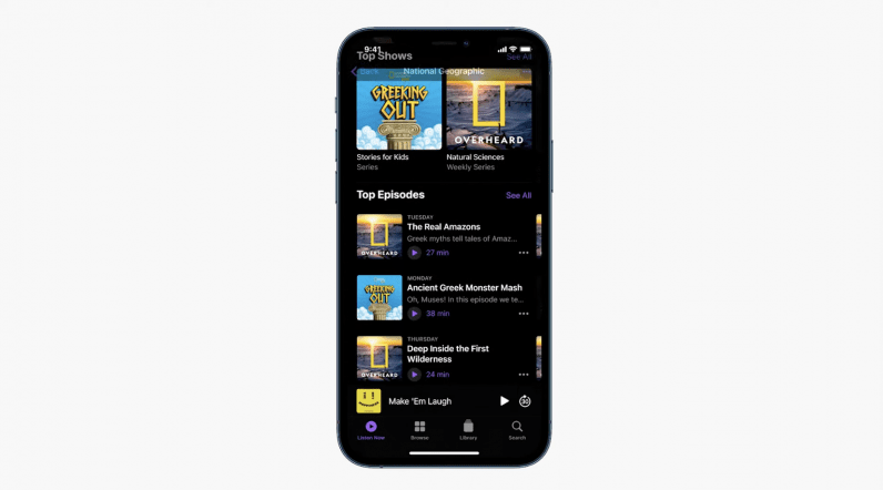 apple podcasts subscriptions app redesign