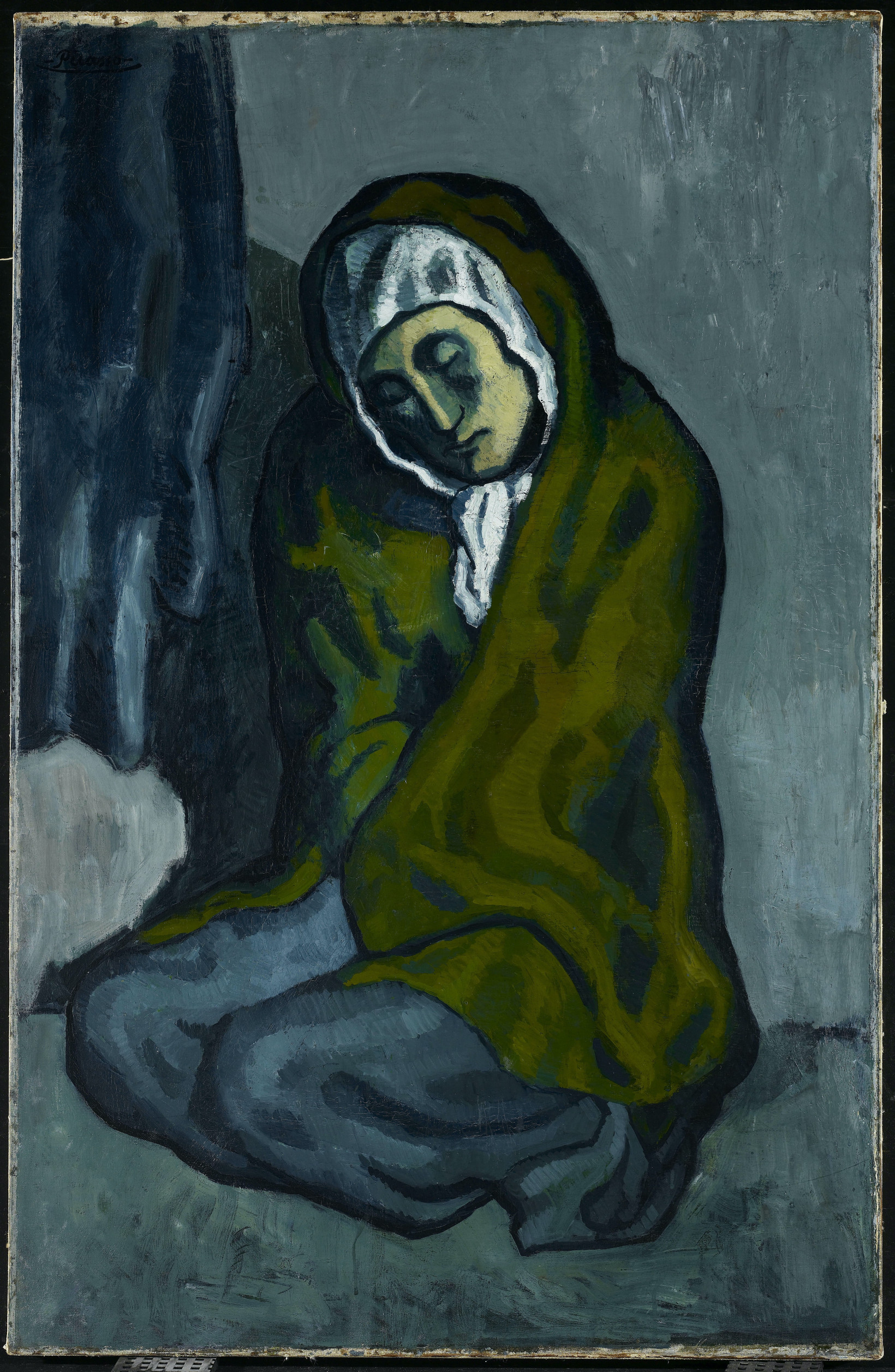 The Crouching Beggar is a major work from Picasso's Blue Period.