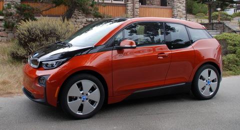 BMW i3 in orange
