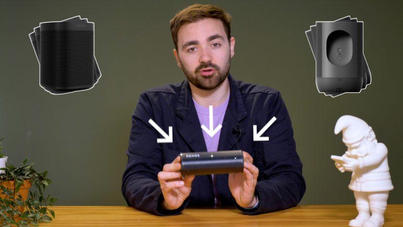 Sonos Roam review alongside Sonos One and Sonos Move