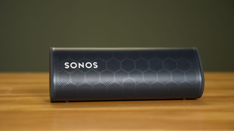 Sonos Roam review laying on its side
