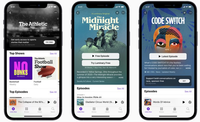 apple podcast app redesign show pages