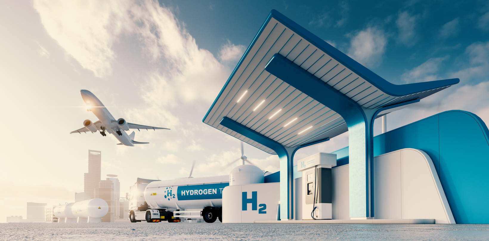 Hydrogen based plane, truck, and charging system
