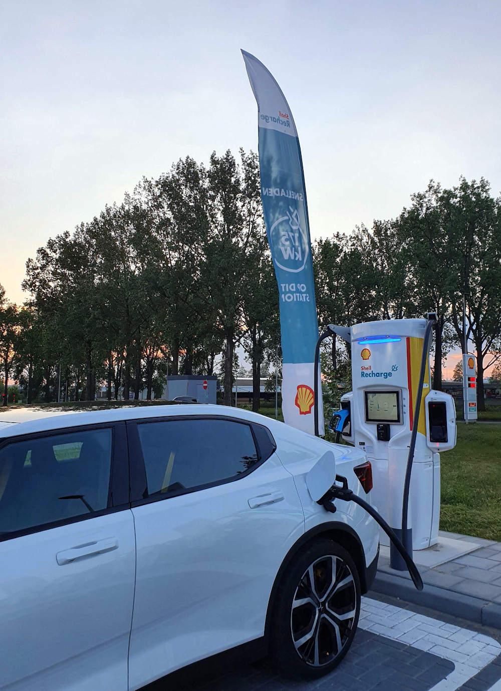 charging, shell garage, electricity, EV