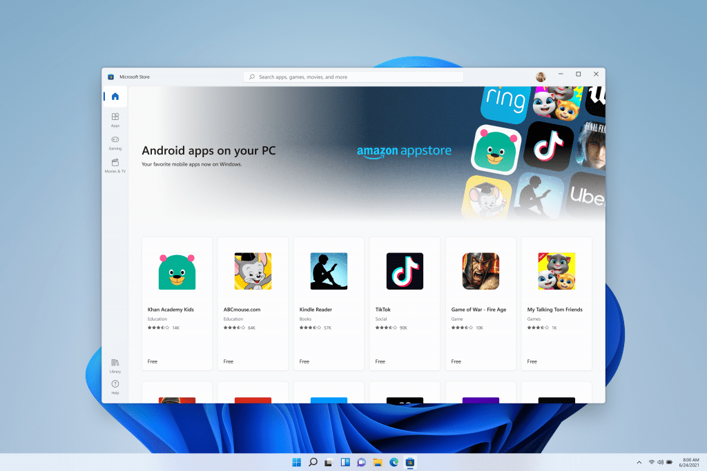 Windows 11 will run Android apps thanks to Amazon and Intel