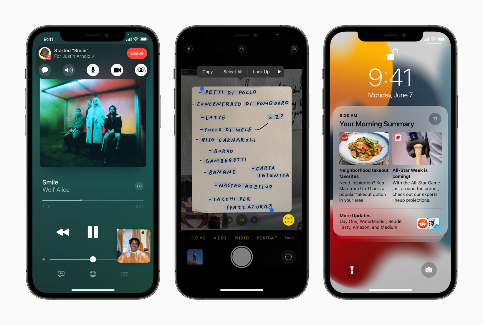 Novos recursos que chegam ao iOS 15, incluindo FaceTime Shareplay, texto ao vivo e novo design de notificações