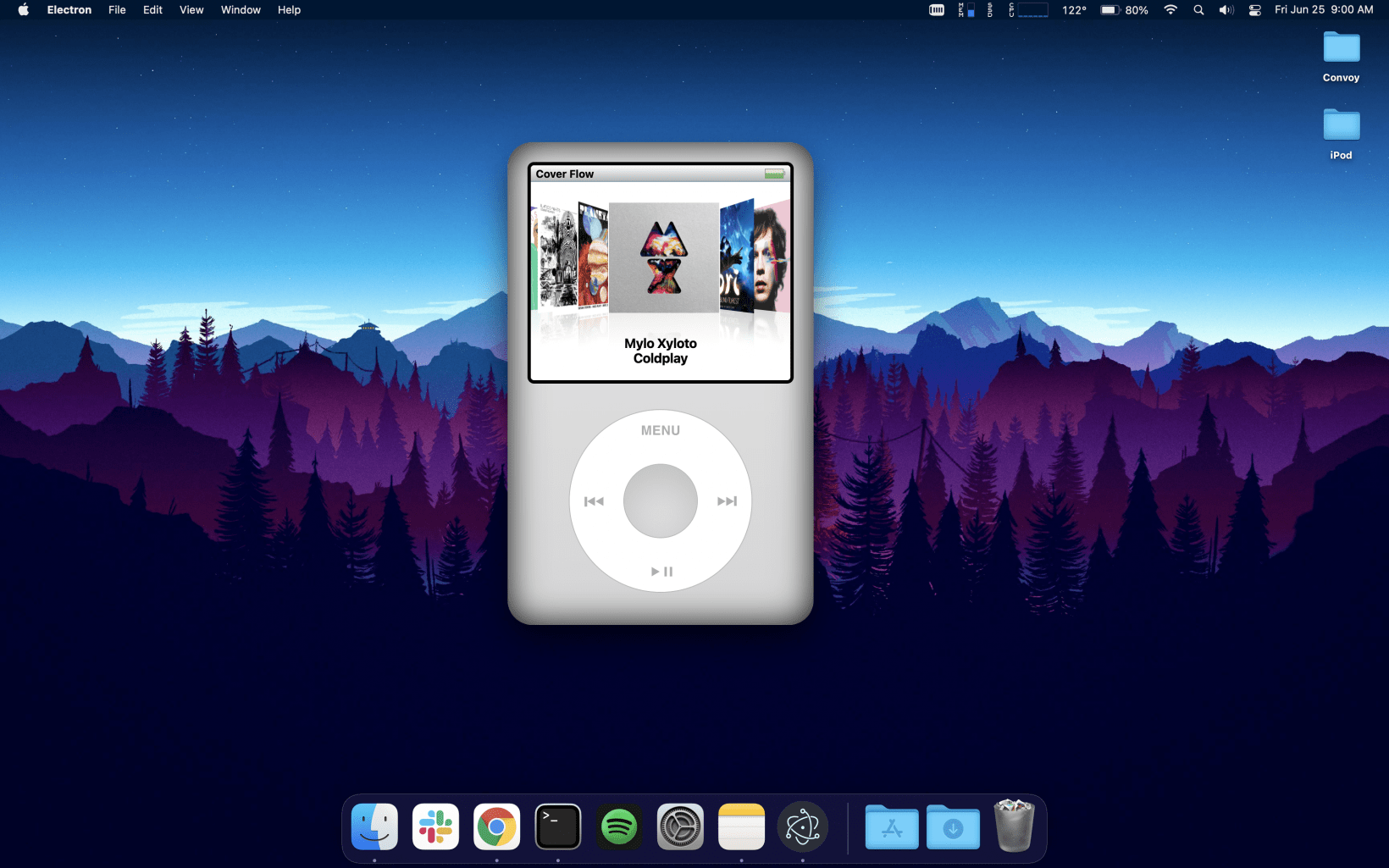 Tanner Villarete wants to turn his React-powered iPod Classic into a standalone desktop app
