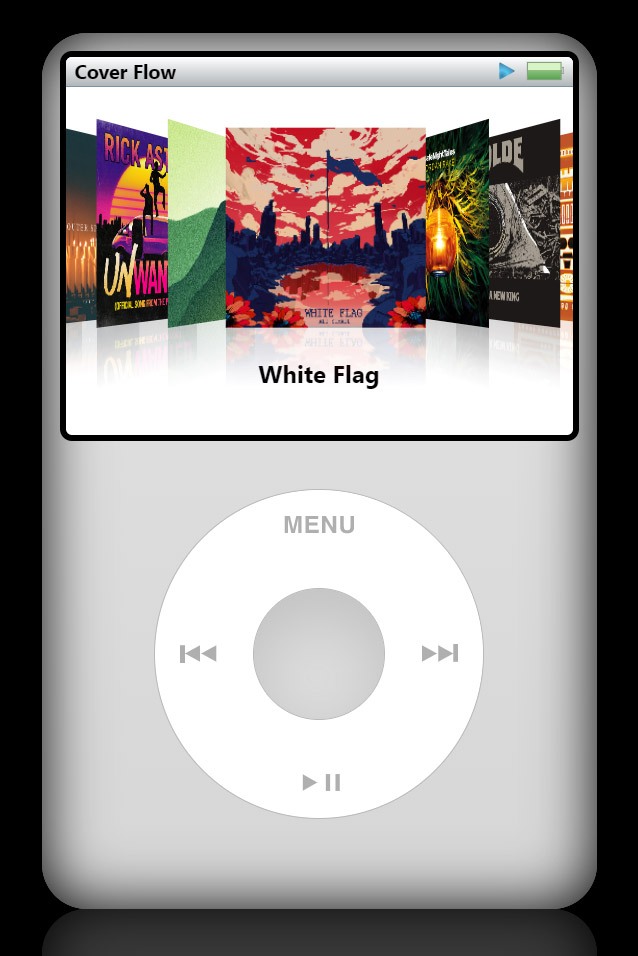 The iPod Classic works just like the original, complete with the touch-sensitive wheel and center click button