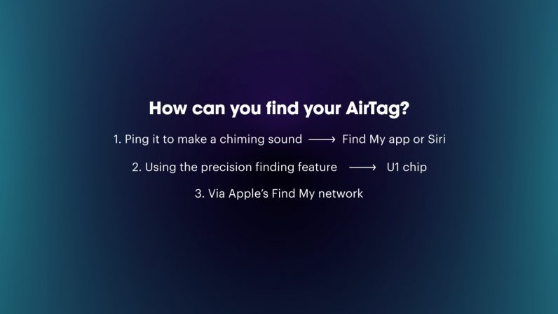 how can you use your phone to find an airtag