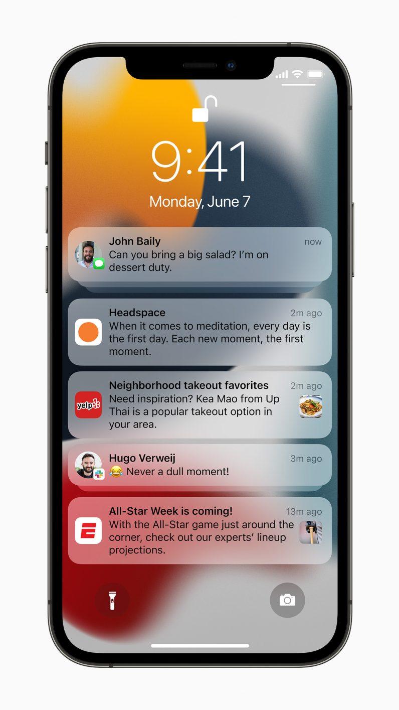 iPhone Do Not Disturb iOS 15 new notifcations
