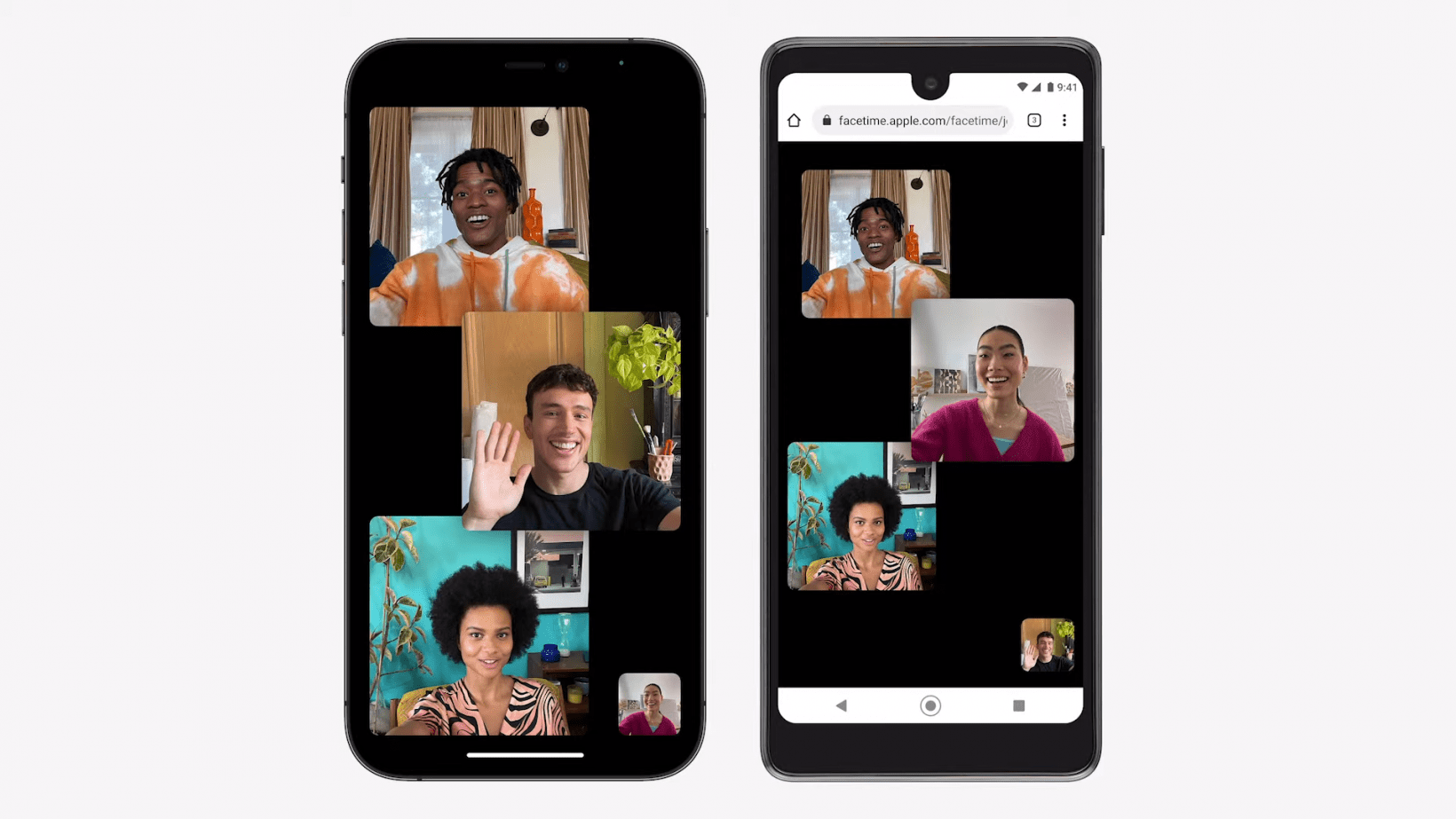 Facetime on an iPone and a Pixel 3