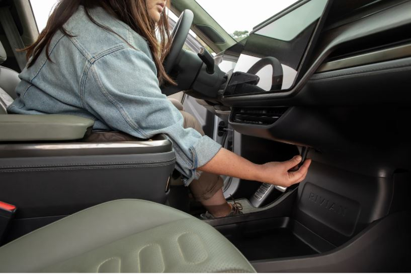 There are two 12V outlets inside the vehicle