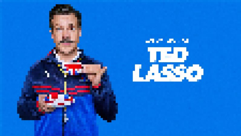 pixelated image of Ted Lasso