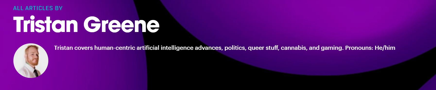 une capture d'écran d'un profil d'auteur TNW
