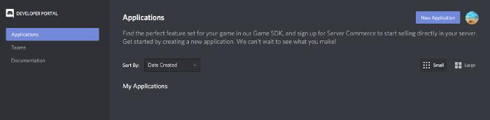 Discord Dev Portal