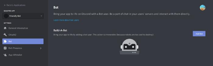 Discord bot application