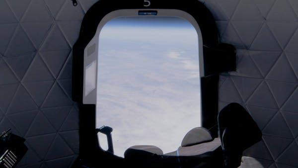 View from space during one of Blue Origin's uncrewed New Shepard test flights. Blue Origin