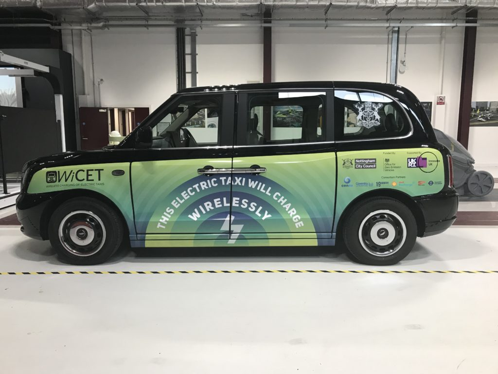 WiCET electric taxi wireless charging