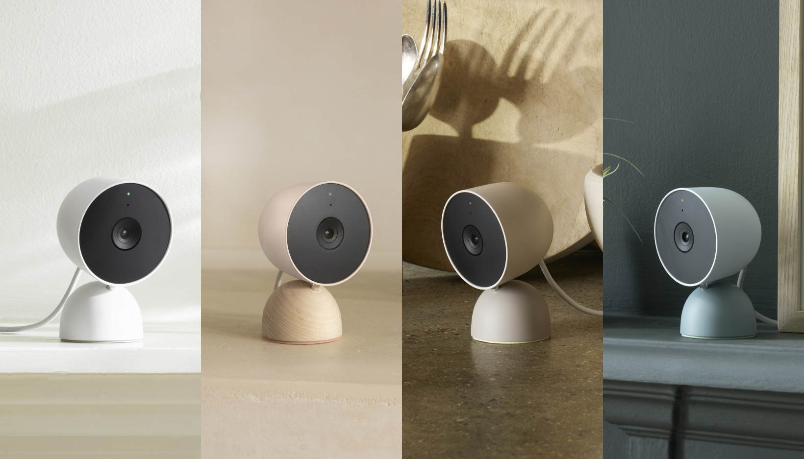 Nest Cam (wired) in four colors