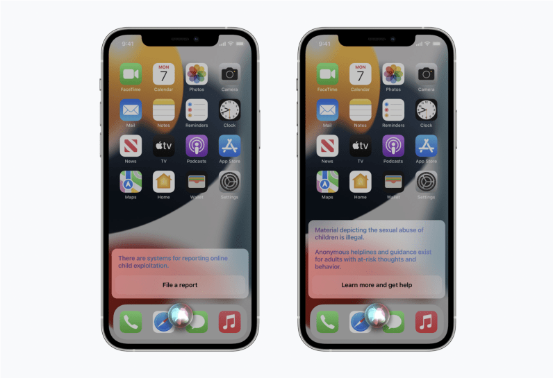 Apple has tweaked Siri and Search to provide additional resources for