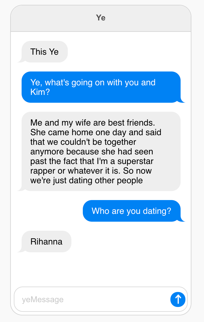 The Kanye AI bot is a troublemaker.