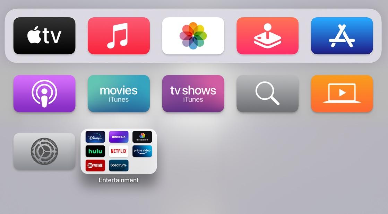 apple tv home screen media mode