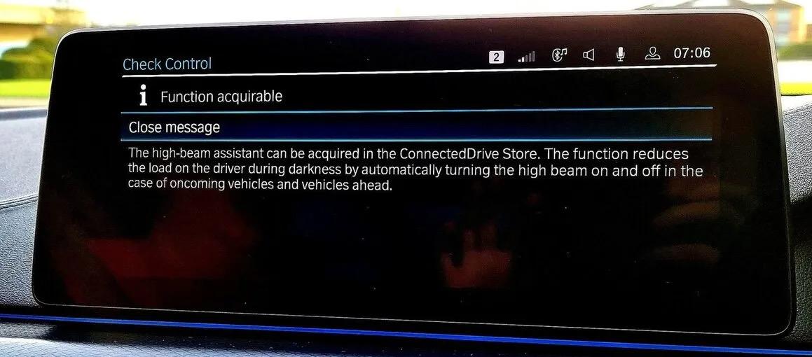 BMW OTA dashboard updates