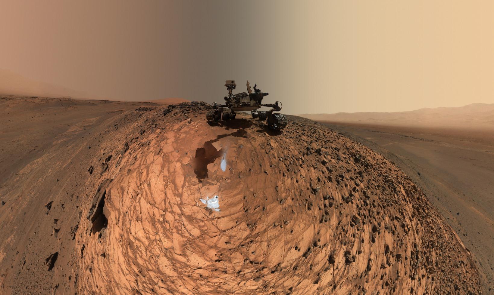 Curiosity is a car-sized Mars rover