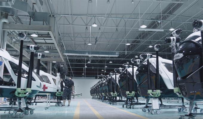 The EHang aircraft factory