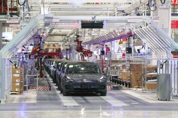 The Tesla gigafactory in Shanghai: five down, 1,995 to go. Xinhua/Alamy