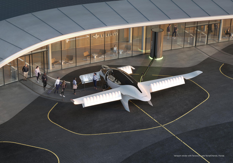 Lilium air vehicle and its landing pad