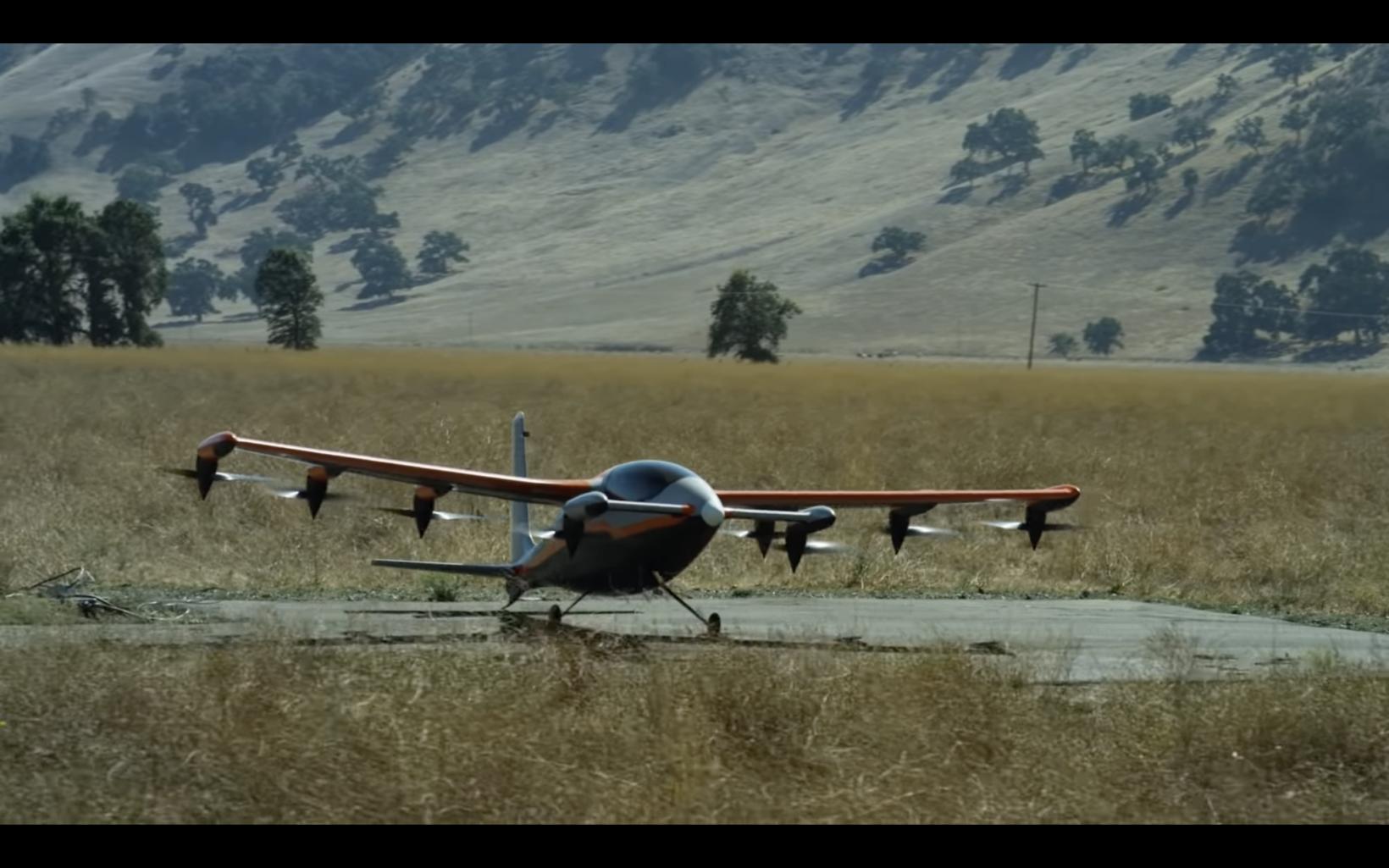 the kitty hawk aircraft and landing pad