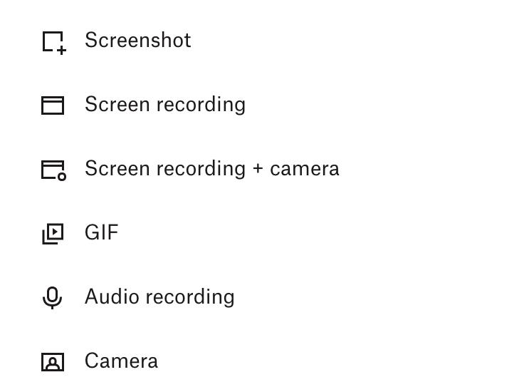 Dropbox Capture tool's offerings