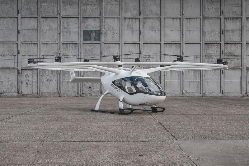 a look at the VoloCity air taxi